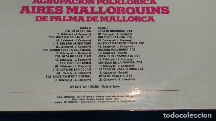 Discos de vinilo: LP VINILO ( AGRUPACION FOLKLORICA AIRES MALLORQUINES DE PALMA DE MALLORCA ) 1976 GRAMUSIC - Foto 6 - 263244760
