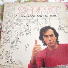 Discos de vinilo: SERRAT* – CADA LOCO CON SU TEMA ARIOLA – I-205417 LP, ALBUM, GAT 1983 . VG+ / VG+. Lote 263257600
