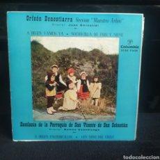 Discos de vinilo: ORFEÓN DONOSTIARRA, MAESTRO ARBÓS - A BELÉN VAMOS YA 1960. Lote 263258555