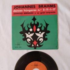 Discos de vinilo: ARMAND BERNARD Y SU ORQUESTA, JOHANNES BRAHMS ,EP. Lote 263259695