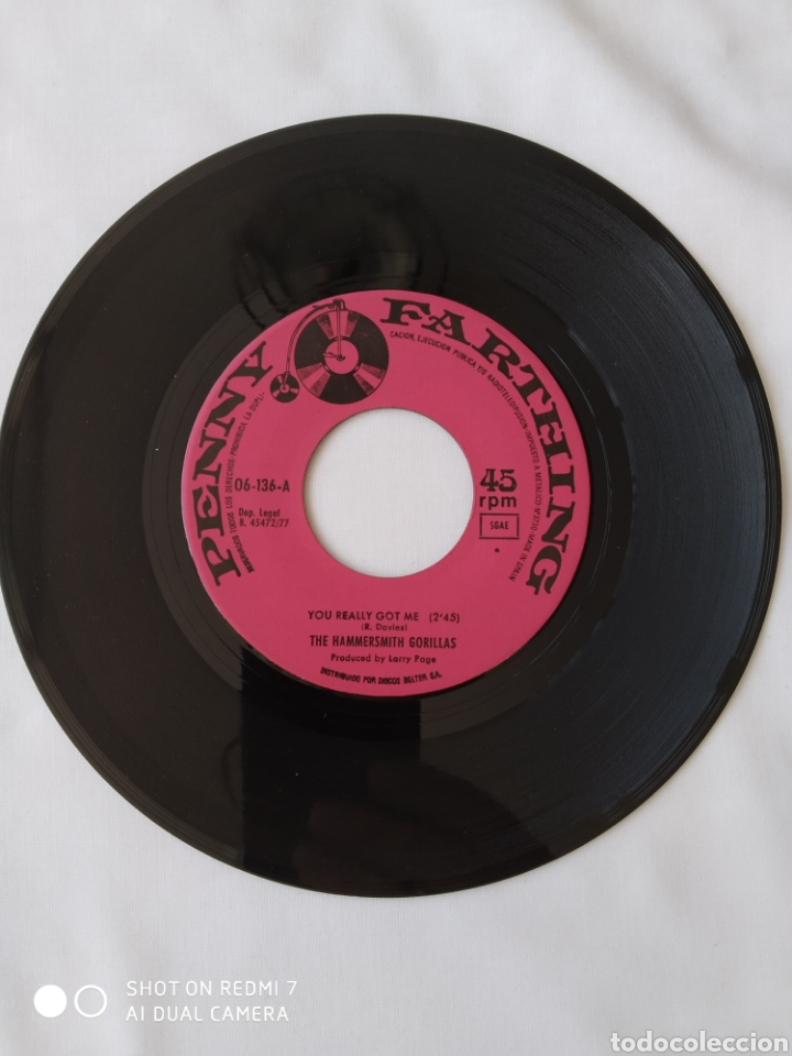 THE HAMMERSMITH GORILLAS,YOU REALLY GOT ME,SINGLE ,06-136 (Música - Discos - Singles Vinilo - Punk - Hard Core)