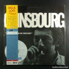 Discos de vinilo: SERGE GAINSBOURG - LA CHANSON DE PRÉVERT - LP + CD 2012 - DOXY. Lote 263299765