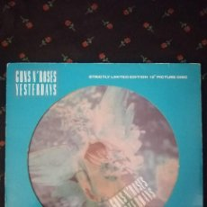 "Discos de vinilo: GUNS N' ROSES - YESTERDAYS -12"" PICTURE MAXI. Lote 263300450"