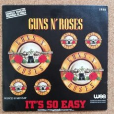"Discos de vinilo: GUNS N' ROSES ‎- IT'S SO EASY - 7"" PROMO VINYL SINGLE. Lote 263303605"
