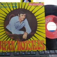 Discos de vinilo: JUAN MORALES SINGLE DELANTE DE DIOS ACTOPOL 1970. Lote 263554450