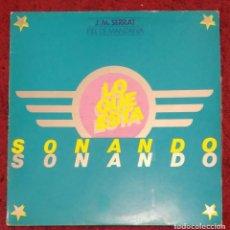 Discos de vinilo: JOAN MANUEL SERRAT (PIEL DE MANZANA) LP 1975 SERIE LO QUE ESTA SONANDO. Lote 263562415