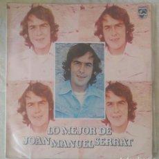 Discos de vinilo: JOAN MANUEL SERRAT (LO MEJOR DE JOAN MANUEL SERRAT) LP 1980 EDICIÓN COLOMBIANA. Lote 263564870
