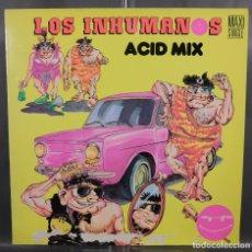 Discos de vinilo: DISCO DE VINILO LO LOS INHUMANOS MAXI SINGLE ACUD MIX. Lote 263584610