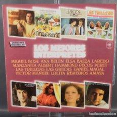Discos de vinilo: DISCO DE VINILO LP LOS MEJORES INTERPRETES VERSIONES ORIGINALES - CBS 1979. Lote 263584900