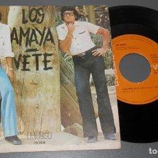 Discos de vinilo: UN VINILLO SINGLE DE LOS AMAYA. Lote 263588460