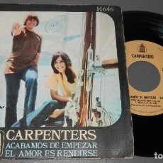 Discos de vinilo: UN VINILLO SINGLE DE LOS CARPENTERS. Lote 263588725