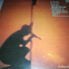Discos de vinilo: U2-UNDER A BLOOD RED SKY-LIVE-CONTIENE ENCARTE-ORIGINAL ESPAÑOL 1983. Lote 263592815