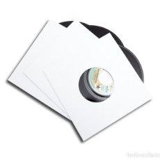 Discos de vinilo: 10 CARPETAS GENÉRICAS DE CARTÓN BLANCO PARA DISCOS DE VINILO SINGLE 7 Y EP   ENVÍO DOMICILIO. Lote 263595610