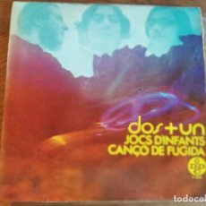 Discos de vinilo: DOS + UN - JOC D'INFANTS **** RARO SINGLE 1968 IA CLUA GRAN ESTADO. Lote 263598385