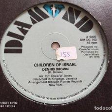 "Discos de vinilo: DENNIS BROWN - CHILDREN OF ISRAEL (12""). Lote 263558285"