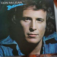 Discos de vinilo: DON MCLEAN - BELIEVERS (EMC, UK, 1981). Lote 263614765
