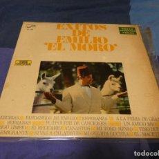 Discos de vinilo: LP EXITOS EMILIO DE EL MORO ESPAÑA 1970 BUEN ESTADO GENERAL. Lote 263629260
