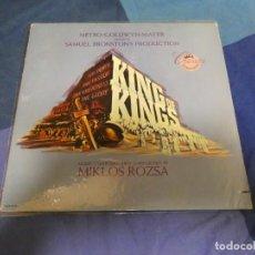Discos de vinilo: LP AÑOS 80 BSO OST BANDA SONORA DE LA PELI KING OF KINGS MIKLOS ROZSA BUEN ESTADO. Lote 263632765
