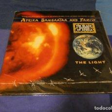 Discos de vinilo: LP AFRIKA BAMBATAA AND FAMILY THE LIGHT 1988 BUEN ESTADO VINILO. Lote 263637525
