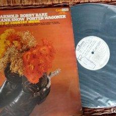 Discos de vinilo: LP (VINILO)-PROMO HITS OF COUNTRY MUSIC (EDDY ARNOLD/BOBBY BARE/DON GIBSON/HANK SNOW/PORTER WAGONER). Lote 263637600