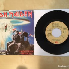"Discos de vinilo: IRON MAIDEN - 2 MINUTES TO MIDNIGHT - PROMO SINGLE 7"" - 1984 SPAIN. Lote 263659270"