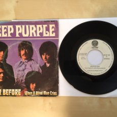 "Discos de vinilo: DEEP PURPLE - NEVER BEFORE / WHEN A BLIND MAN CRIES - SINGLE 7"" - 1976 SPAIN VERTIGO. Lote 263660995"