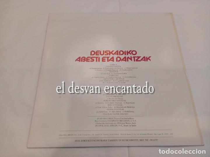 Discos de vinilo: DEUSKADIKO ABESTI ETA DANTZAK. Folklore vasco - Foto 2 - 263667320