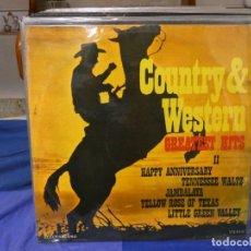 Discos de vinilo: LP COUNTRY & WESTERN HITS RUMANIA 1988 BUEN ESTADO GENERAL. Lote 263676895