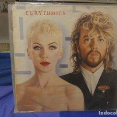 Discos de vinilo: LP EURYTHMICS AÑO 1988 REVENGE TAPA SOBADILLA Y MANCHADA VINILO MUY BIEN. Lote 263677030