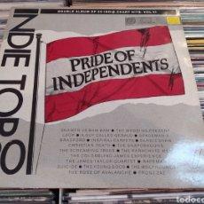Discos de vinilo: INDIE TOP 20 VOL VI - PRIDE OF INDEPENDENTS. DOBLE LP VINILO. EDICIÓN DE 1989.. Lote 263677655