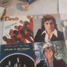 Discos de vinilo: 4 DISCOS SINGLE DIFERENTE MÚSICA. Lote 263698950