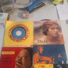 Discos de vinilo: 4 SINGLE DISCOS MÚSICA. Lote 263699785