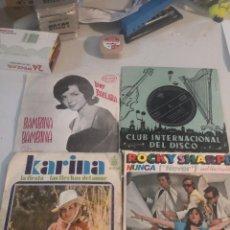 Discos de vinilo: 4 SINGLE DISCOS MÚSICA. Lote 263701030