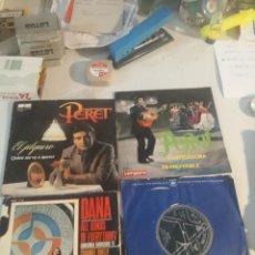 Discos de vinilo: 4 SINGLE DISCOS MÚSICA. Lote 263701645