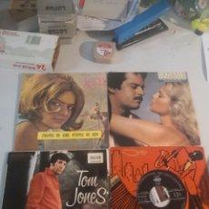 Discos de vinilo: 4 SINGLE DISCOS MÚSICA. Lote 263701755