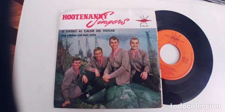 HOOTENANNY SINGERS-EP TE ESPERO AL CALOR DEL HOGAR +3-NUEVO (Música - Discos de Vinilo - EPs - Country y Folk)