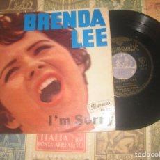 Discos de vinilo: BRENDA LEE - I'M SORRY + 3 BRUNSWICK –1960- 10 187 OG FRANCIA. Lote 263728700