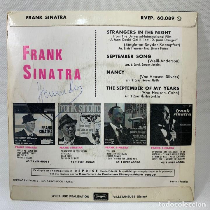Discos de vinilo: SINGLE FRANK SINATRA - STRANGERS IN THE NIGHT - FRANCIA - AÑO 1966 - Foto 4 - 263732245