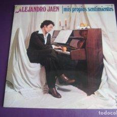 Discos de vinilo: ALEJANDRO JAEN - MIS PROPIOS SENTIMIENTOS - LP NOVOLA 1978 - MELODICA 70'S 80'S - SIN APENAS USO. Lote 263735745