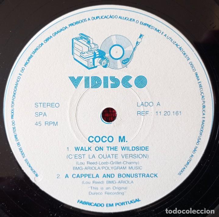 Discos de vinilo: COCO M. *WALK ON THE WILD SIDE (CEST LA ORRATE VERSION* MAXI SINGLE VINILO 1987 PORTUGAL - Foto 3 - 263737470