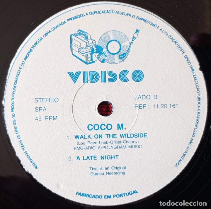 Discos de vinilo: COCO M. *WALK ON THE WILD SIDE (CEST LA ORRATE VERSION* MAXI SINGLE VINILO 1987 PORTUGAL - Foto 4 - 263737470