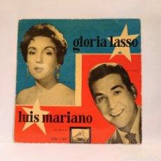 """Discos de vinilo: GLORIA LASSO Y LUIS MARIANO - CANASTOS / AMOR, NO ME QUIERAS TANTO. VINILO 7"""". CCM1. Lote 263742575"""