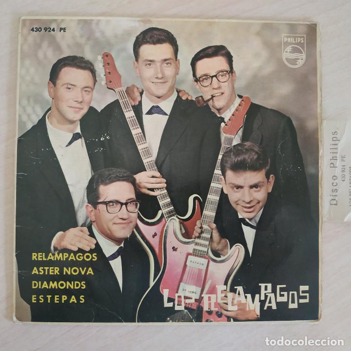 LOS RELAMPAGOS - RELAMPAGOS / ASTER NOVA / DIAMONDS / ESTEPAS - EP PHILIPS 1963 CON LA LENGÜETTA (Música - Discos de Vinilo - EPs - Grupos Españoles 50 y 60)