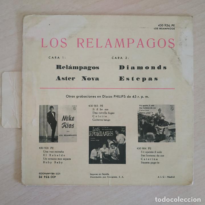 Discos de vinilo: LOS RELAMPAGOS - RELAMPAGOS / ASTER NOVA / DIAMONDS / ESTEPAS - EP PHILIPS 1963 CON LA LENGÜETTA - Foto 2 - 263743130