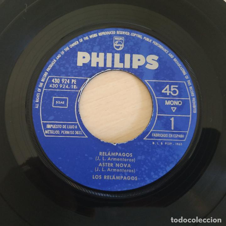 Discos de vinilo: LOS RELAMPAGOS - RELAMPAGOS / ASTER NOVA / DIAMONDS / ESTEPAS - EP PHILIPS 1963 CON LA LENGÜETTA - Foto 5 - 263743130