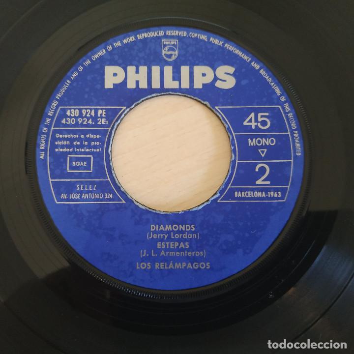 Discos de vinilo: LOS RELAMPAGOS - RELAMPAGOS / ASTER NOVA / DIAMONDS / ESTEPAS - EP PHILIPS 1963 CON LA LENGÜETTA - Foto 6 - 263743130