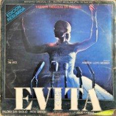 Discos de vinilo: EVITA (VERSIÓN ORIGINAL EN ESPAÑOL) (EDICIÓN RESUMIDA) PALOMA SAN BASILIO. Lote 263749665