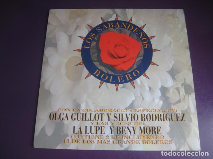 LOS SABANDEÑOS – BOLERO - DOBLE LP MANZANA 1995 - SILVIO RODRIGUEZ - LA LUPE - BENY MORE - GUILLOT (Música - Discos - LP Vinilo - Grupos Españoles de los 70 y 80)
