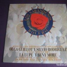 Discos de vinilo: LOS SABANDEÑOS – BOLERO - DOBLE LP MANZANA 1995 - SILVIO RODRIGUEZ - LA LUPE - BENY MORE - GUILLOT. Lote 263751870