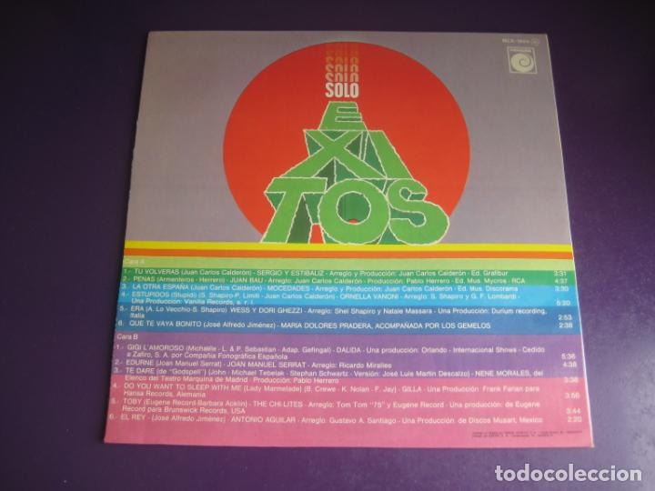 Discos de vinilo: SOLO EXITOS - LP RECOP NOVOLA 1975 - SERRAT - MOCEDADES - ORNELLA VANONI - ETC 12 TEMAS - SIN USO - Foto 3 - 263756150